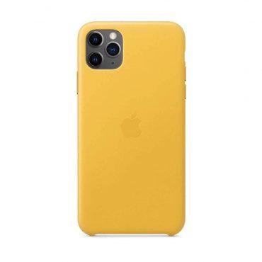 كفر جلدي أصلي لآيفون 11 Pro Max من Apple - ليموني