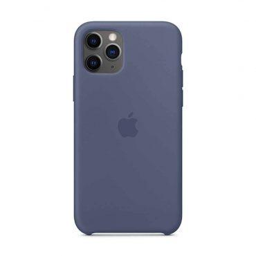 كفر أصلي سيليكون لآيفون 11 Pro Max من Apple - أزرق داكن