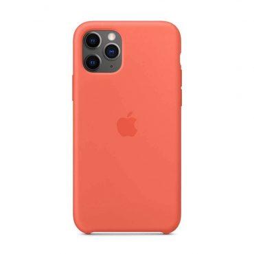 كفر أصلي سيليكون لآيفون 11 Pro Max من Apple – برتقالي