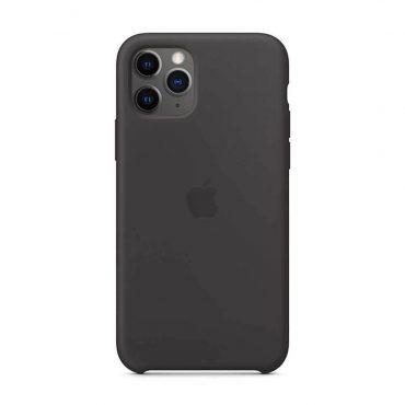 كفر أصلي سيليكون لآيفون 11 Pro Max من Apple - أسود