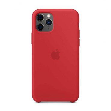 كفر أصلي سيليكون لآيفون 11 Pro Max من Apple - أحمر