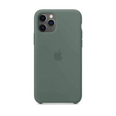 كفر أصلي سيليكون لآيفون 11 Pro من Apple - أخضر داكن