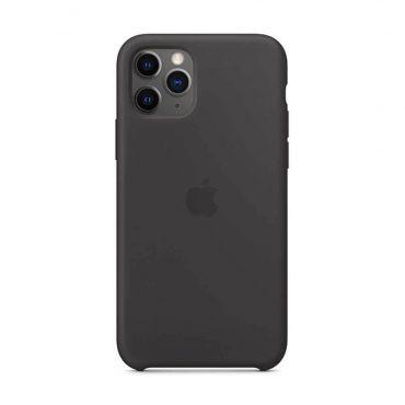 كفر أصلي سيليكون لآيفون 11 Pro من Apple - أسود