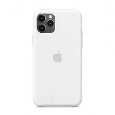 كفر أصلي سيليكون لآيفون 11 Pro من Apple - أبيض