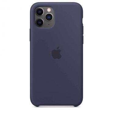 كفر أصلي سيليكون لآيفون 11 Pro من Apple - أزرق داكن