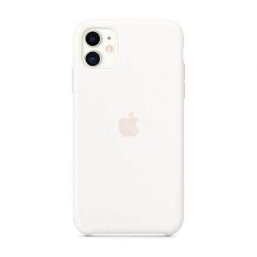 كفر أصلي سيليكون لآيفون 11  من Apple - أبيض