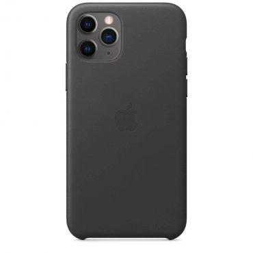 كفر جلدي أصلي لآيفون 11 Pro من Apple - أسود