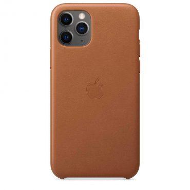 كفر جلدي أصلي لآيفون 11 Pro من Apple - بني رملي