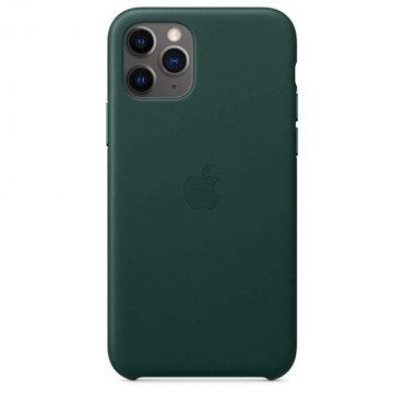 كفر جلدي أصلي لآيفون 11 Pro من Apple - أخضر داكن