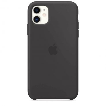 كفر سيليكون أصلي لآيفون 11  من Apple - أسود