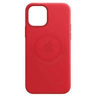 كفر أحمر Apple iPhone 12 Pro Max Leather Case with MagSafe