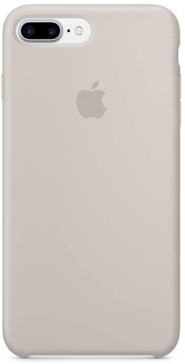 كفر سيليكون أصلي لآيفون 7 Plus من Apple - رمادي مائل للبني