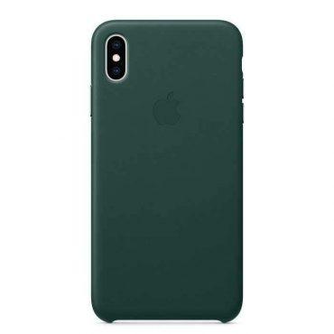 كفر جلدي أصلي لآيفون XS من Apple - أخضر داكن