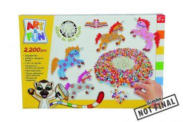 لعبة خرز وحيد القرن SIMBA - A&F Ironing Beads Unicorn