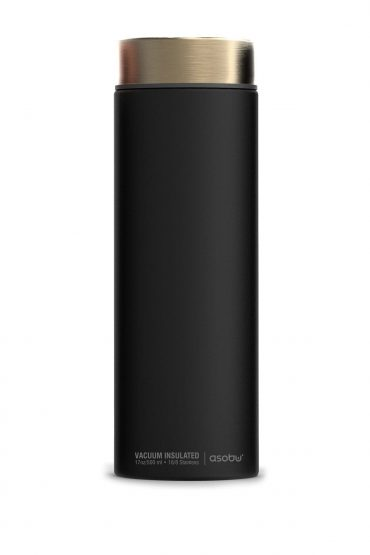 زجاجة ASOBU - Le Baton Travel Bottle - أسود / ذهبي