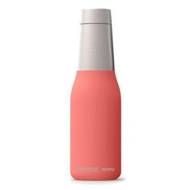 زجاجة ASOBU - Oasis Vacuum Insulated Double Walled Water Bottle 600 ml - زهري