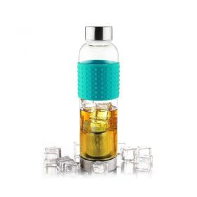زجاجة ASOBU - Glass Water Bottle To Go for Cold Brew 400 ml - تركوازي