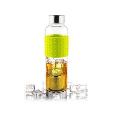 زجاجة  ASOBU - Glass Water Bottle To Go for Cold Brew 400 ml - أخضر
