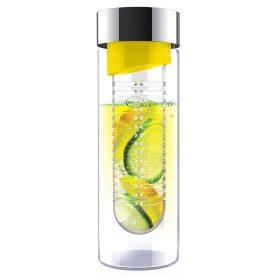 زجاجة ASOBU - Glass Water Bottle With Fruit Infuser 600 ml - أصفر