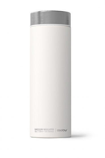 زجاجة ASOBU - Le Baton Travel Bottle - أبيض / فضي