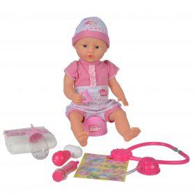 لعبة دمية مع اكسسوارات الطبيب SIMBA - NBB Baby with Doctor Accessories
