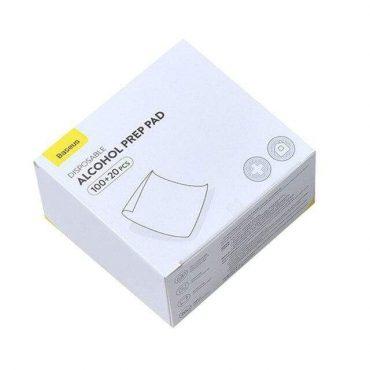 مناديل تعقيم Baseus Disposable Alcohol Prep Pad – 120 قطعة