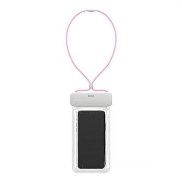 حافظة هاتف ضد الماء Baseus Let''s go Slip Cover Waterproof Bag – أبيض/ بينك