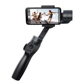 عصا سيلفي وجامبل Baseus Control Smartphone Handheld Gimbal Stabilizer باللون الرمادي