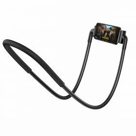 حامل هاتف معلق بالرقبة Baseus New Neck-Mounted Lazy Bracket – أسود