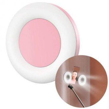 إضاءة ليد لعصا السيلفي Baseus Lovely Fill light Accessories – بينك