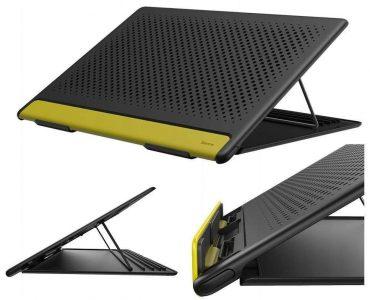 حامل لابتوب قابل للطي Baseus Let''s go Mesh Portable Laptop Stand – رمادي / أصفر