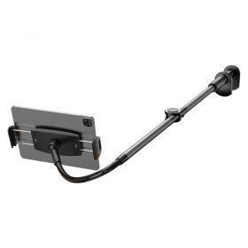 حامل الهاتف والآيباد Baseus Otaku life rotary adjustment lazy holder(Applicable for phone/ ipad) – رمادي غامق