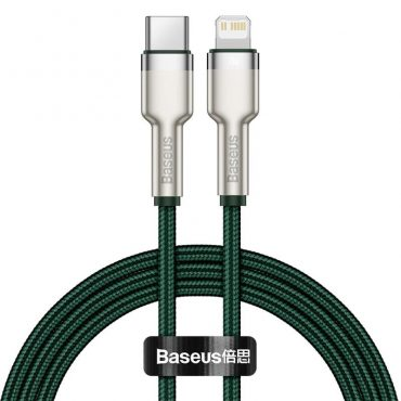 كابل Baseus Cafule Series Metal Data Cable Type-C to iP PD 20W 2m 2 متر - أخضر