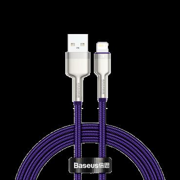 كابل Baseus Cafule Series Metal Data Cable USB to IP 2.4A 1متر أرجواني