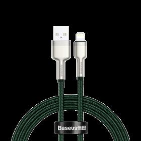 كابل Baseus Cafule Series Metal Data Cable USB to IP 2.4A 1 متر أخضر