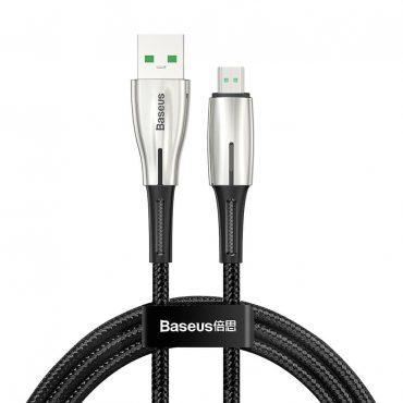 كابل Baseus Waterdrop Cable USB For Micro 4A 1 متر أسود