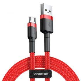 كابل Baseus cafule Cable USB For Micro 2.4A 1 متر -أحمر