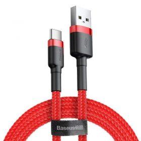 كابل Baseus cafule Cable USB For Type-C 3A ١ متر - أحمر