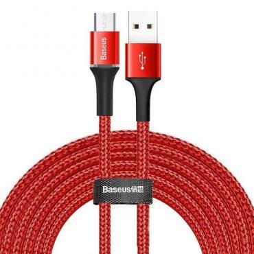 كابل Baseus cafule Cable USB For Type-C 2A 2متر - أحمر