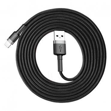 كابل Baseus cafule Cable USB For iP 2A  3متر - أسود/رمادي