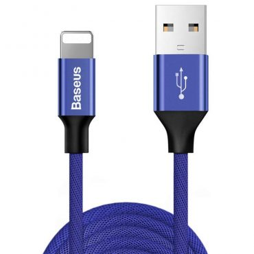 كابل Baseus Yiven Cable For Apple  ١.٨  متر -  أزرق داكن