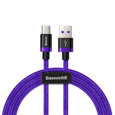 كابل Baseus Purple Gold Red HW flash charge cable USB For Type-C 40W 1 متر – بنفسجي