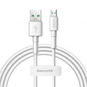 كابل Baseus Mini White Cable USB For Micro 2.4A ١ متر - ابيض