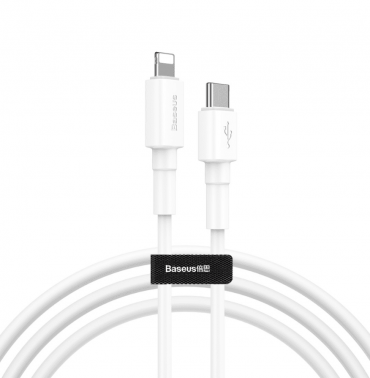 كابل Baseus Mini White Cable Type-C to iP PD 18W 1m - أبيض