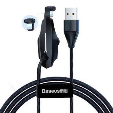كابل Baseus Colorful Sucker RPG Data Cable USB for Type-C 3A 1.2m الاسود