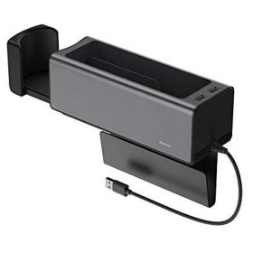 مسند ذراع وشاحن للسيارة  Baseus Deluxe Metal Armrest Console Organizer(dual USB power supply) اسود