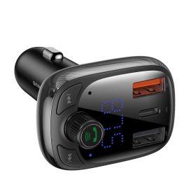 شاحن السيارة Baseus T typed S-13 wireless MP3 car charger(PPS Quick Charger-EU)– أسود