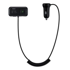 شاحن السيارة Baseus T typed S-16 wireless MP3 car charger(English)– أسود