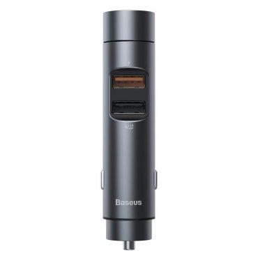 شاحن السيارة Baseus Energy Column Car Wireless MP3 Charger (PPS Quick Charger-English) – رمادي غامق