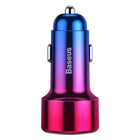 شاحن السيارة Baseus Magic Series PPS digital display (Type-c PD+QC) Intelligent dual quick charging and car charging of 45W أحمر